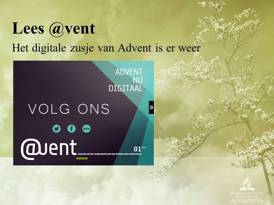 Lees @vent Het digitale zusje van Advent is er weer