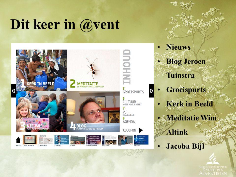 Download @vent op www.adventist.nl