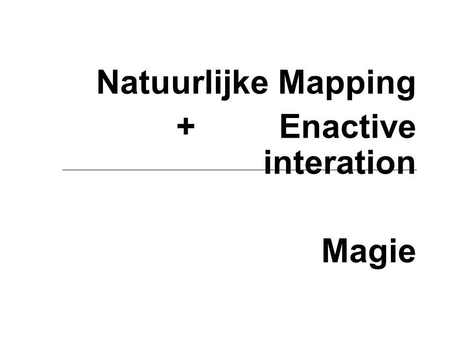 Natuurlijke Mapping + Enactive interation Magie