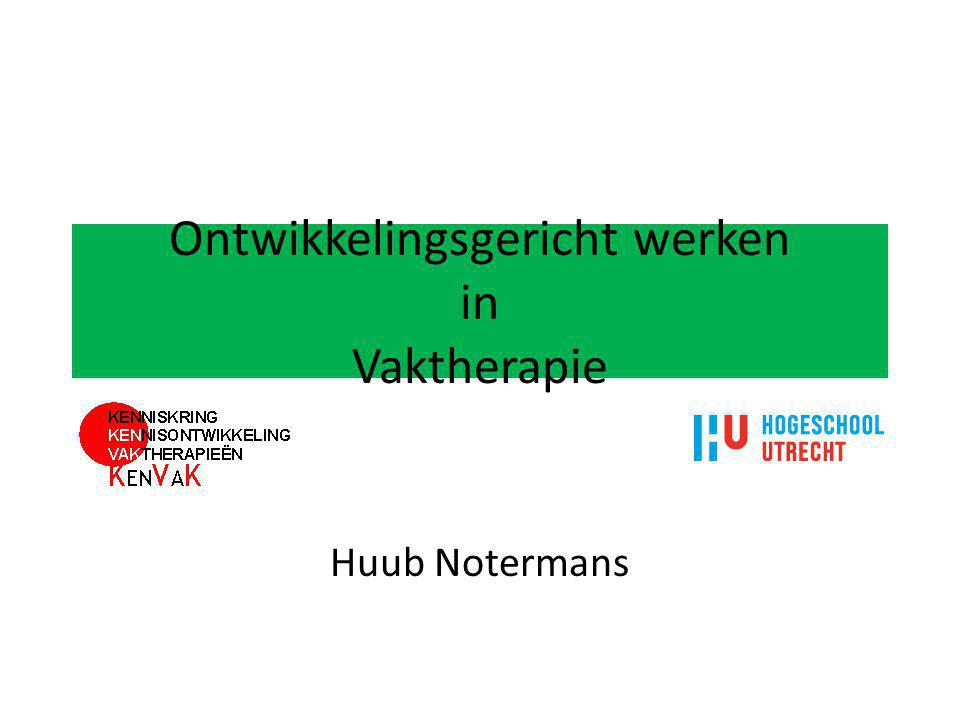 Ontwikkelingsgericht werken in Vaktherapie Huub Notermans