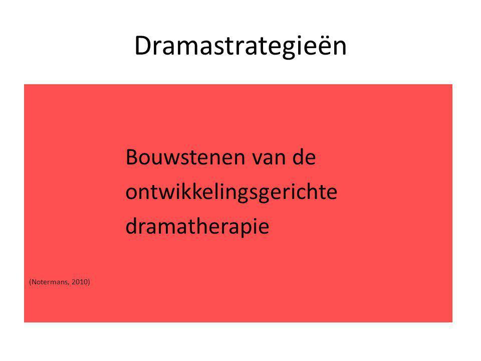 Dramastrategieën Bouwstenen van de ontwikkelingsgerichte dramatherapie (Notermans, 2010)