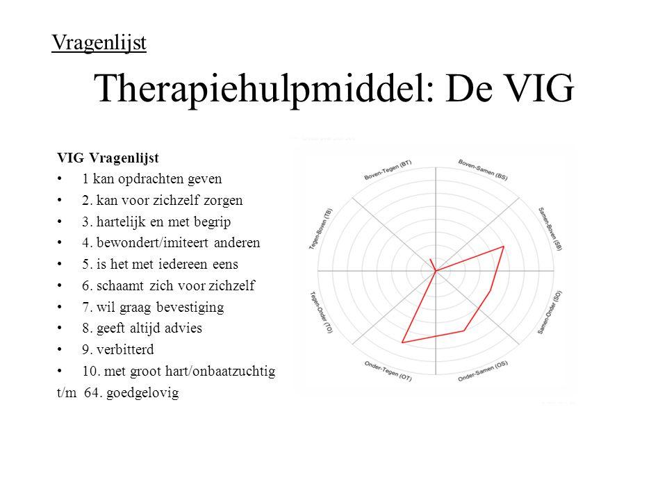 Therapiehulpmiddel: De VIG VIG Vragenlijst 1 kan opdrachten geven 2.