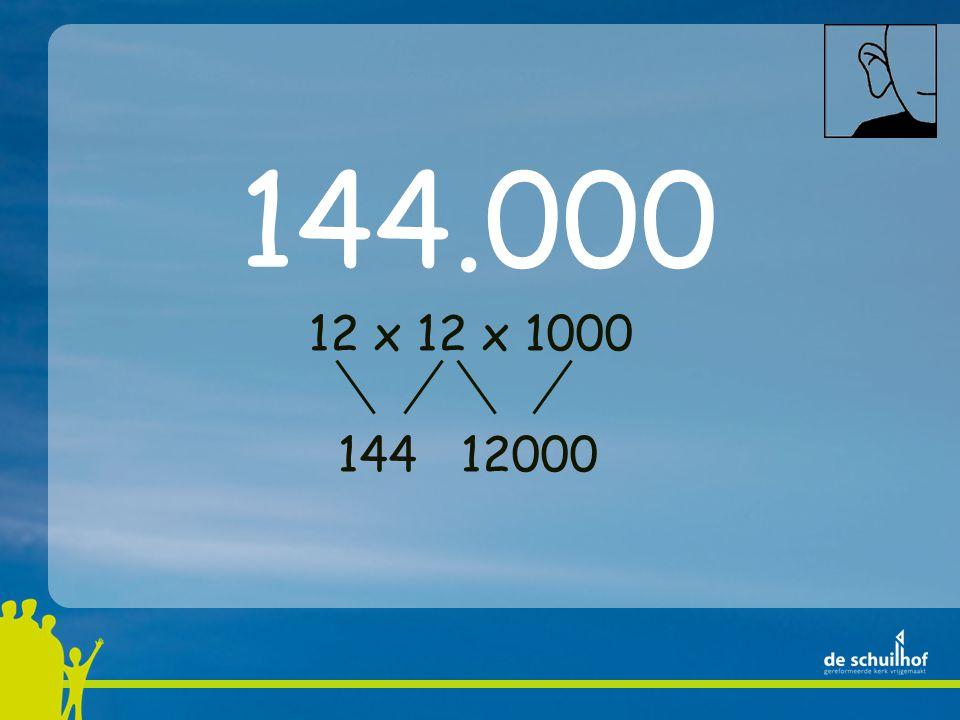 12 x 12 x 1000 144 12000