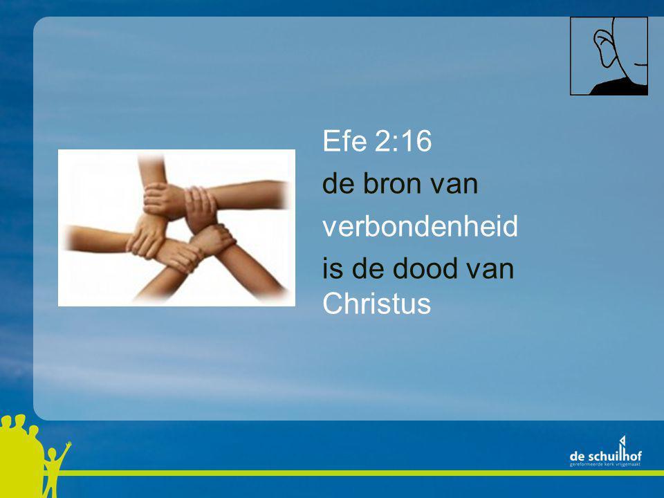 Efe 2:16 de bron van verbondenheid is de dood van Christus