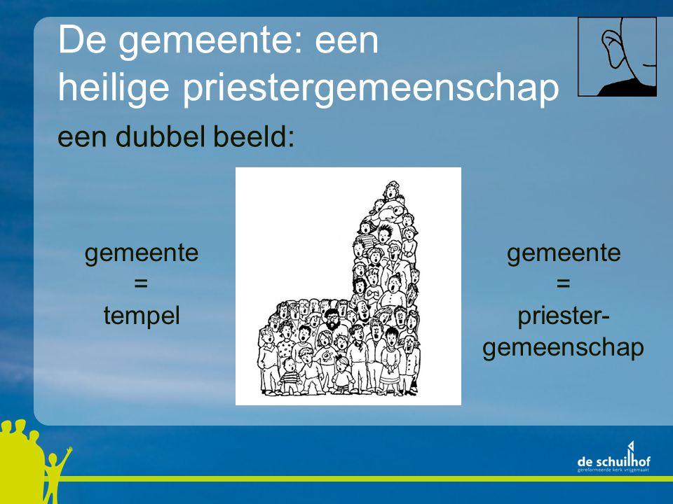 een dubbel beeld: gemeente = tempel gemeente = priester- gemeenschap