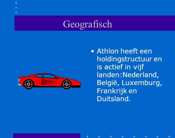 Geografisch Athlon heeft een holdingstructuur en is actief in vijf landen:Nederland, België, Luxemburg, Frankrijk en Duitsland.