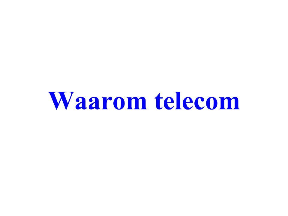 Waarom telecom