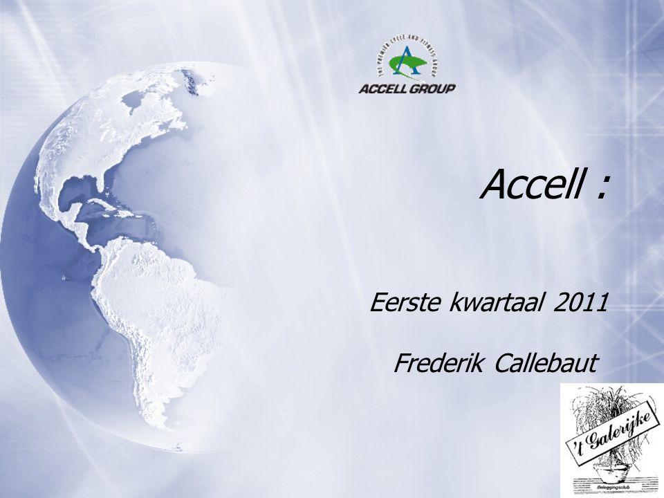 Accell : Eerste kwartaal 2011 Frederik Callebaut