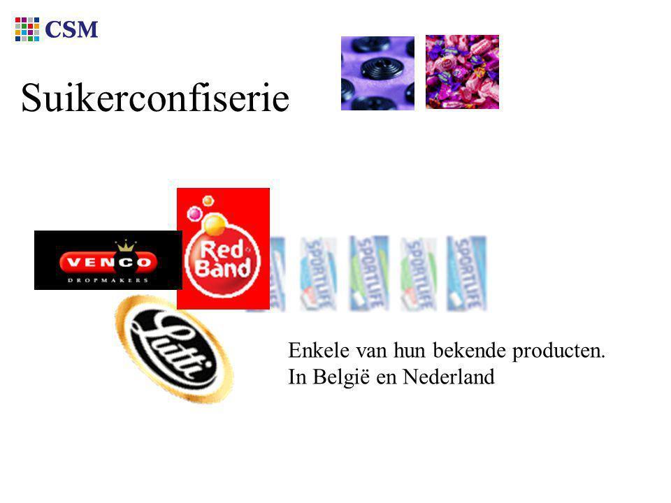Suikerconfiserie Enkele van hun bekende producten. In België en Nederland