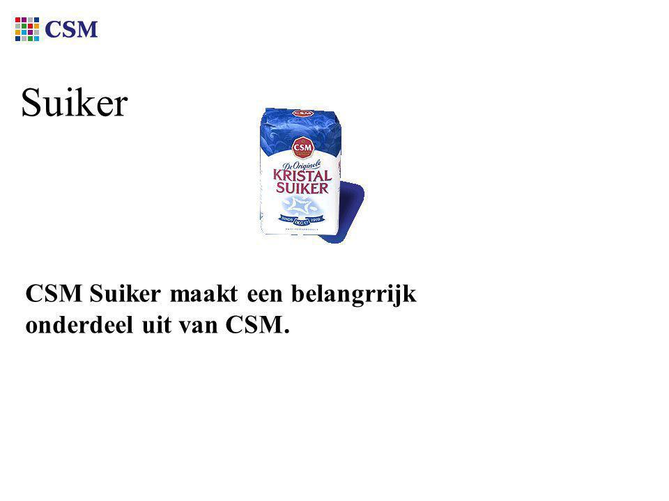 Suiker CSM Suiker maakt een belangrrijk onderdeel uit van CSM.