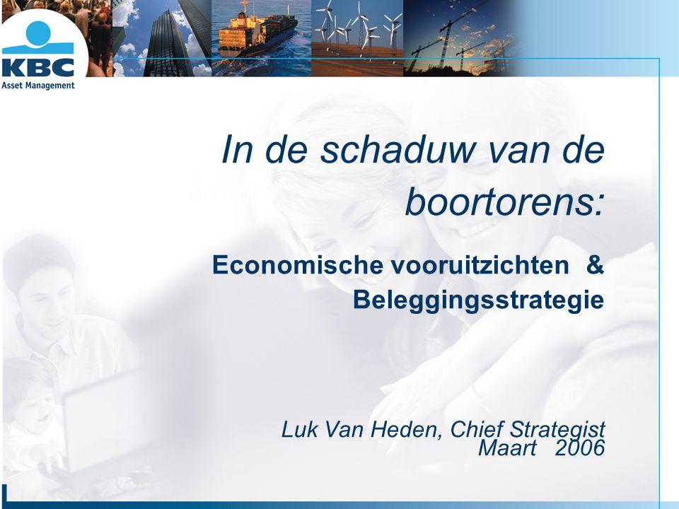 In de schaduw van de boortorens: Economische vooruitzichten & Beleggingsstrategie Luk Van Heden, Chief Strategist Maart 2006