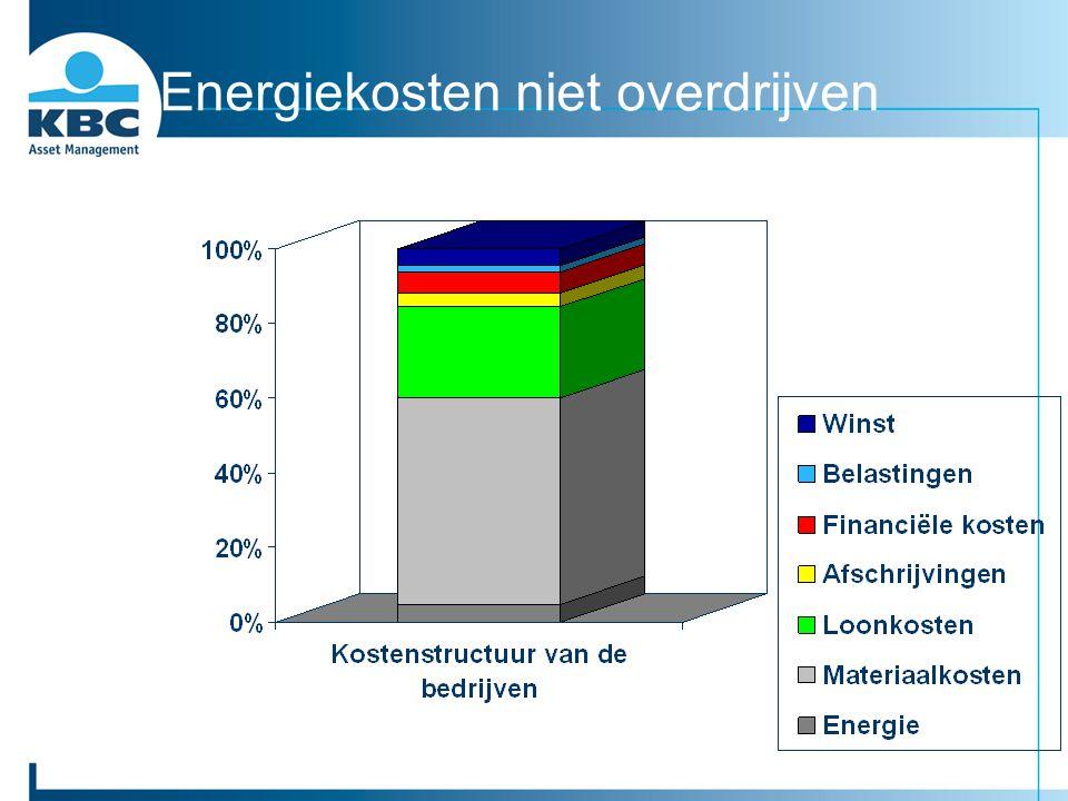 Energiekosten niet overdrijven