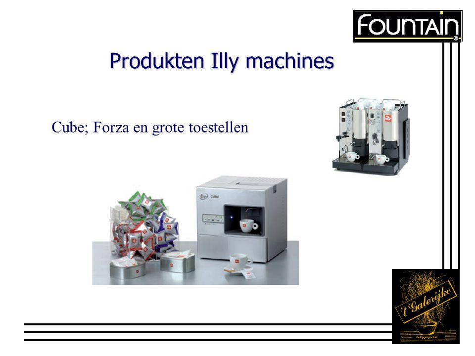 Produkten Illy machines Cube; Forza en grote toestellen