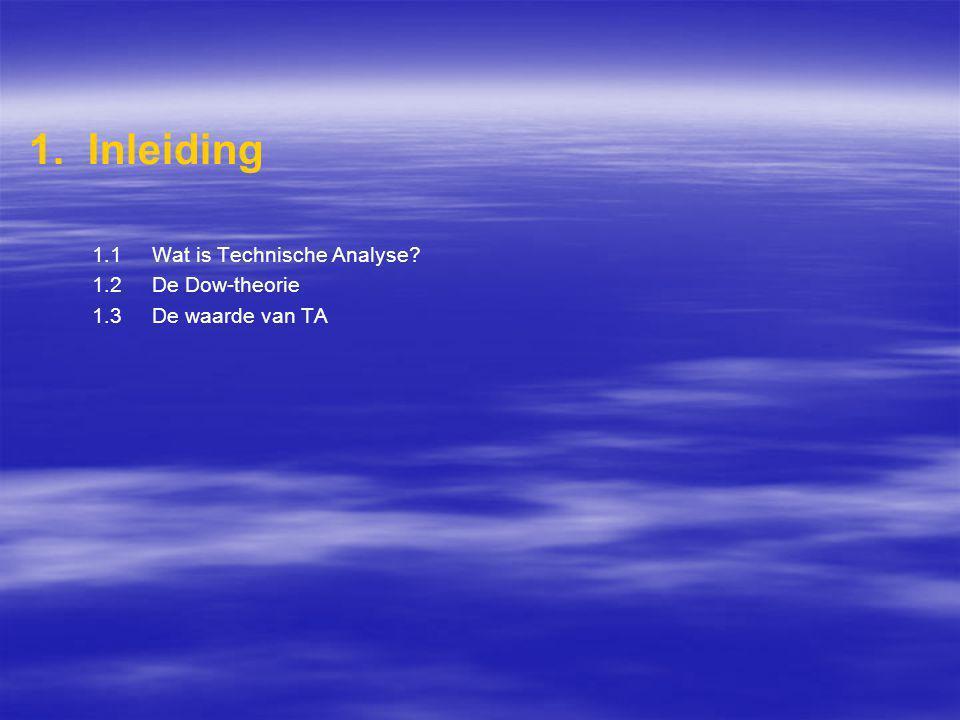 1. Inleiding 1.1 Wat is Technische Analyse? 1.2 De Dow-theorie 1.3 De waarde van TA