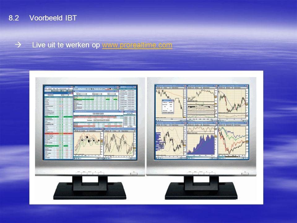 8.2 Voorbeeld IBT  Live uit te werken op www.prorealtime.comwww.prorealtime.com