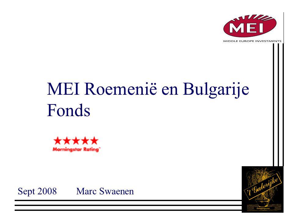 MEI Roemenië en Bulgarije Fonds Sept 2008Marc Swaenen