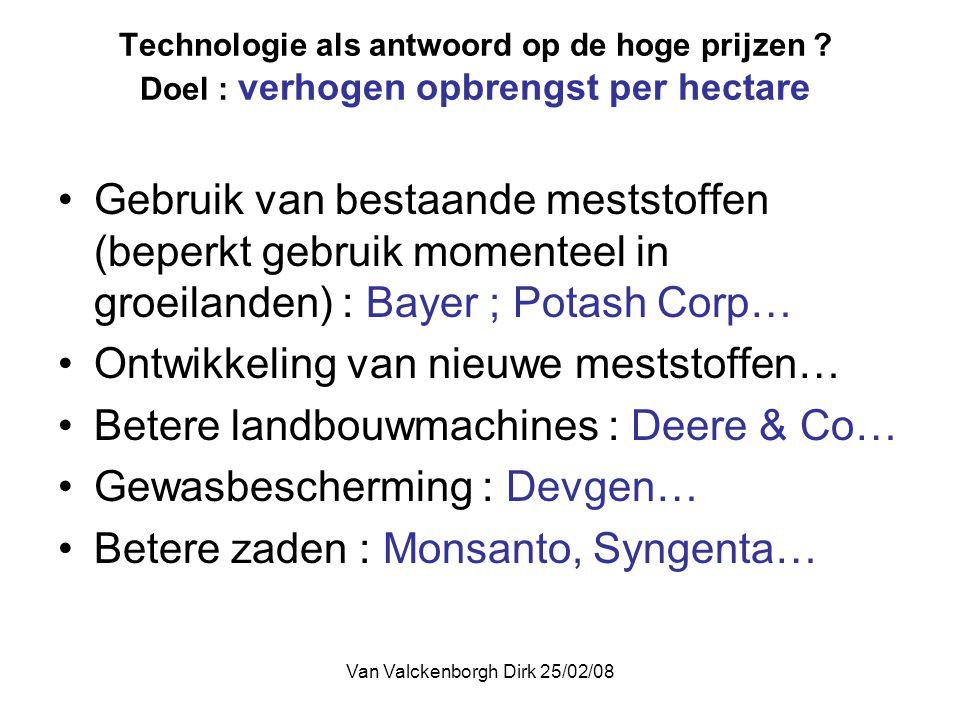 Van Valckenborgh Dirk 25/02/08 Technologie als antwoord op de hoge prijzen .