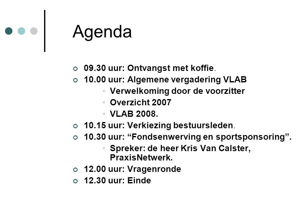 Agenda 09.30 uur: Ontvangst met koffie.