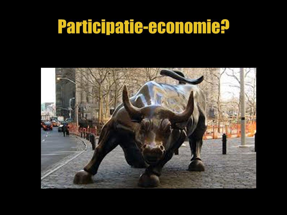 Er bestaat geen participatie-economie 1.Niet duidelijk wat vraag een aanbod is 2.Geen methode om prijs te bepalen 3.Weinig transparante informatie 4.Geen universele toegang 5.Geen (gouden) standaard Want er bestaat geen participatiemarkt