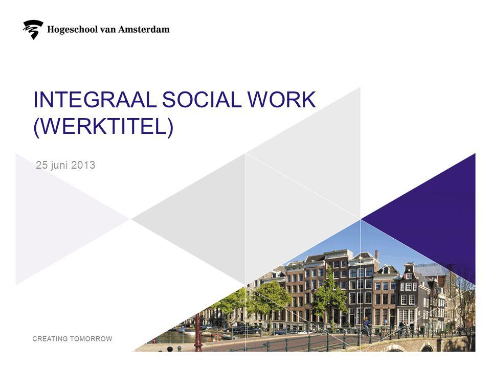 INTEGRAAL SOCIAL WORK (WERKTITEL) 25 juni 2013 1