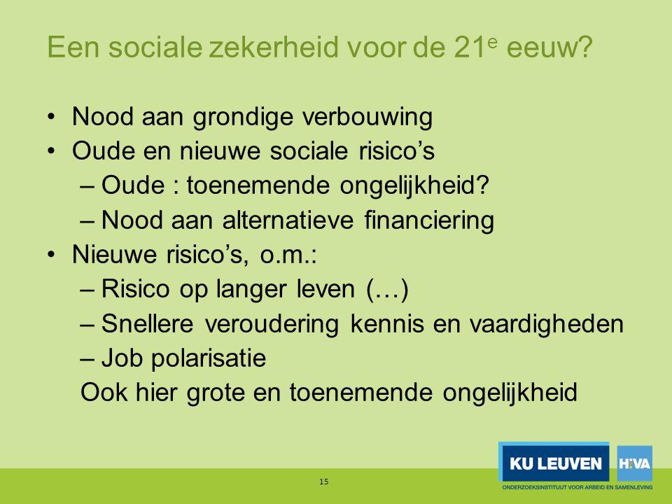 Een sociale zekerheid voor de 21 e eeuw.