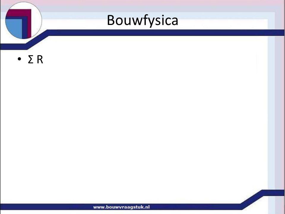 Bouwfysica Σ R