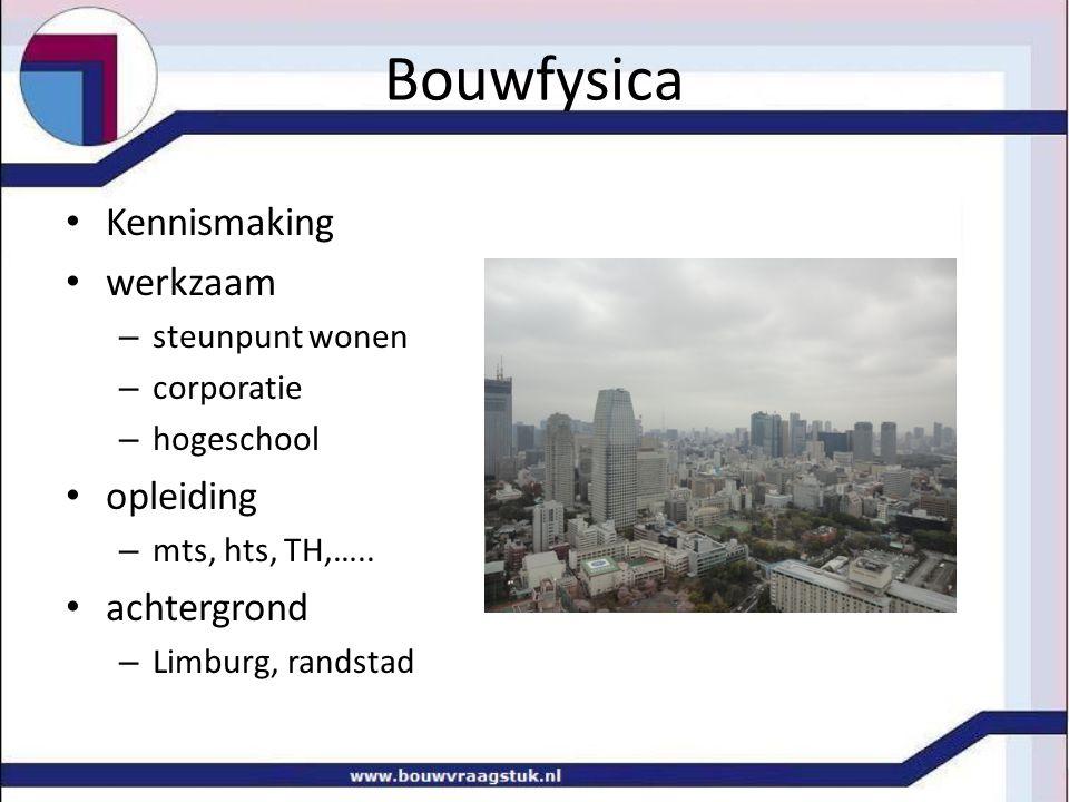 Kennismaking werkzaam – steunpunt wonen – corporatie – hogeschool opleiding – mts, hts, TH,…..
