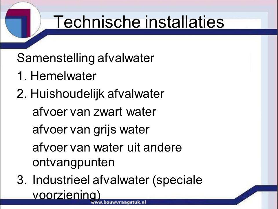 Technische installaties Samenstelling afvalwater 1.