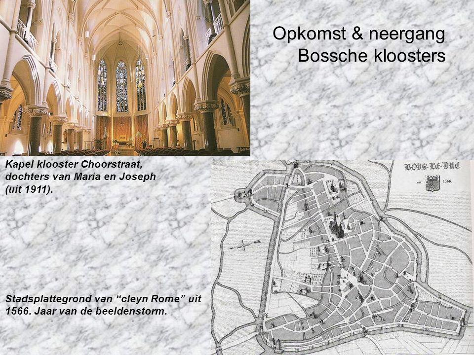 Opkomst & neergang Bossche kloosters Stadsplattegrond van cleyn Rome uit 1566.