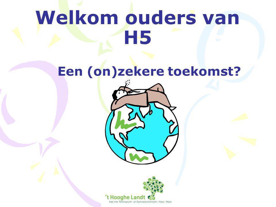 Welkom ouders van H5 Een (on)zekere toekomst?