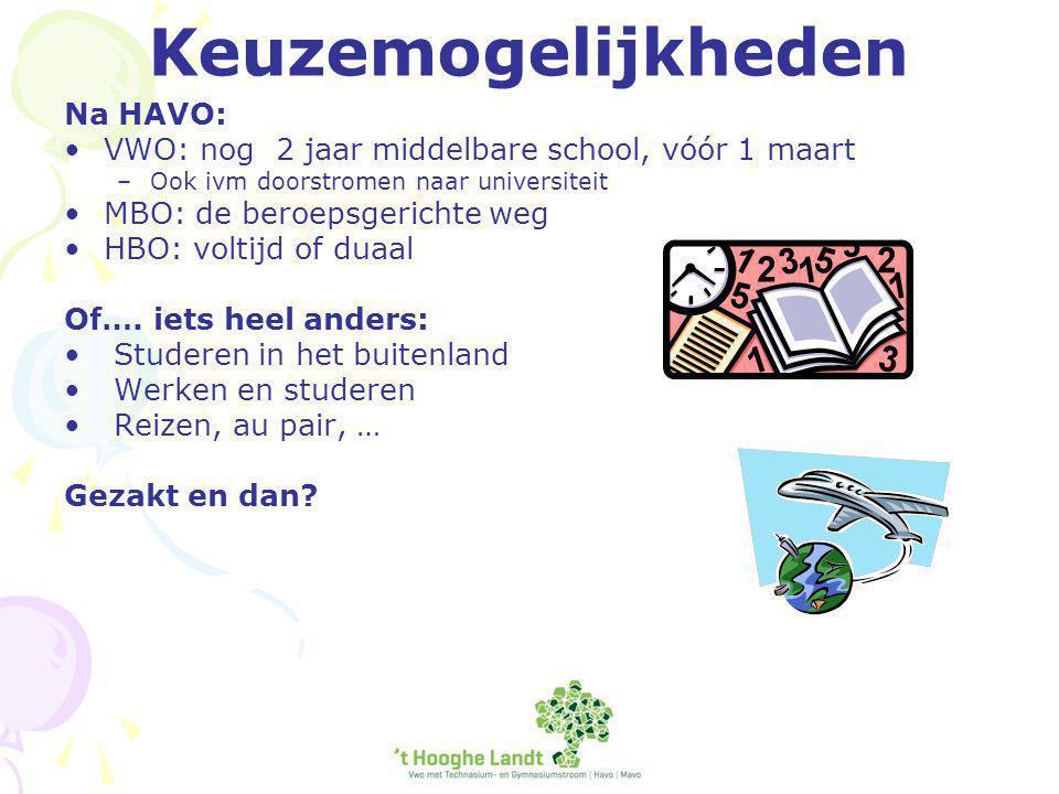Tot slot Websites: www.duo.nl www.studielink.nl www.studiekeuze123.nl www.HBOstart.nl www.tkmst.nl www.wilweg.nl (buitenland)www.wilweg.nl http://hooghelandtph.dedecaan.net www.studiekeuzeinformatie.nl/overzicht-HBO overzicht van opleidingen per instellingwww.studiekeuzeinformatie.nl/overzicht-HBO http://www.rijksoverheid.nl/onderwerpen/hoge r-onderwijs/studiekeuze-en-toelatinghttp://www.rijksoverheid.nl/onderwerpen/hoge r-onderwijs/studiekeuze-en-toelating