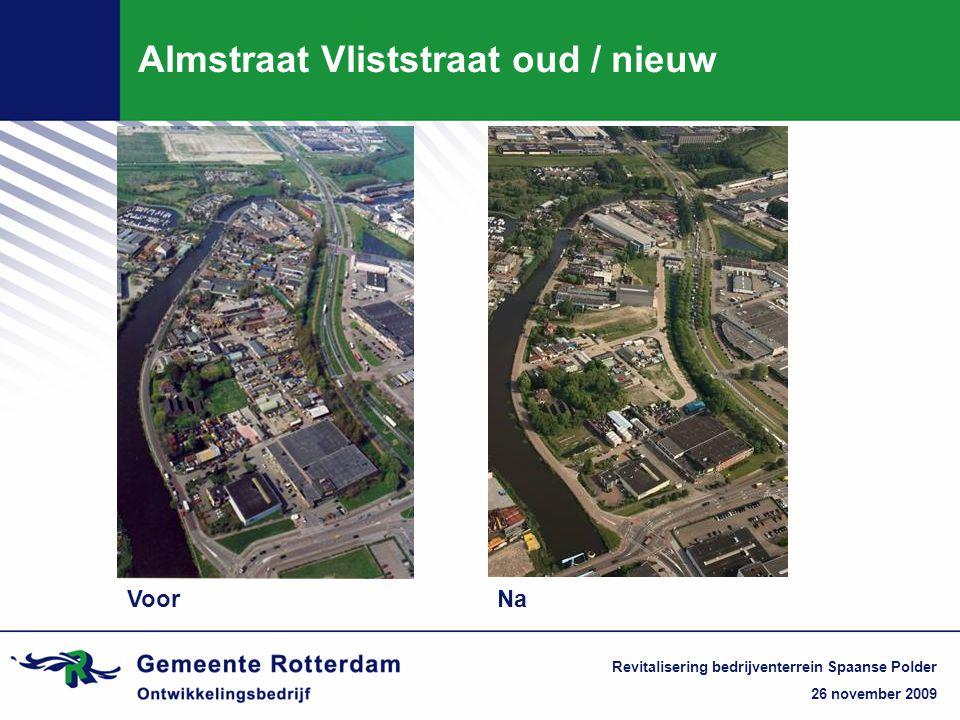 26 november 2009 Revitalisering bedrijventerrein Spaanse Polder Almstraat Vliststraat oud / nieuw VoorNa