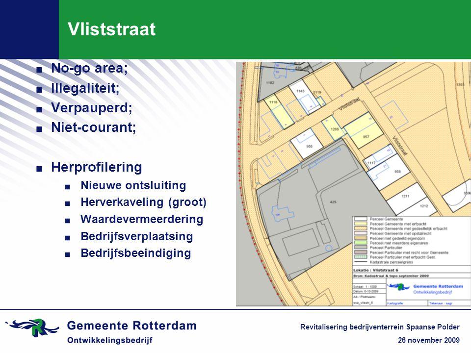 26 november 2009 Revitalisering bedrijventerrein Spaanse Polder Vliststraat.