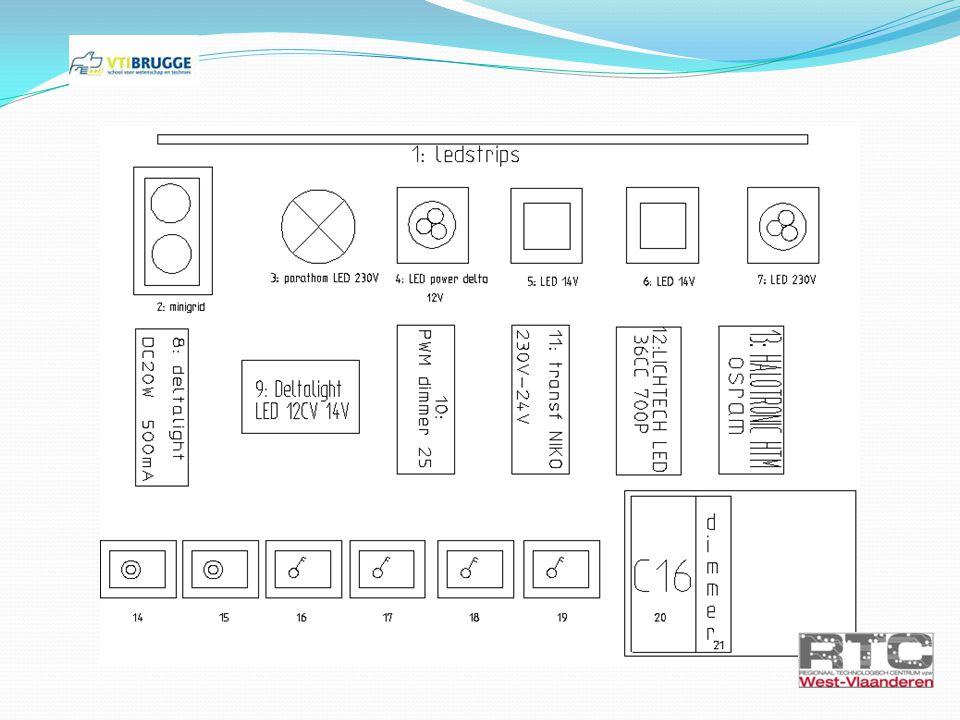 Oefening 3: LED-strip schakeling 3b: LED-strips schakeling uitbreiden met NIKO dimmer en drukknop