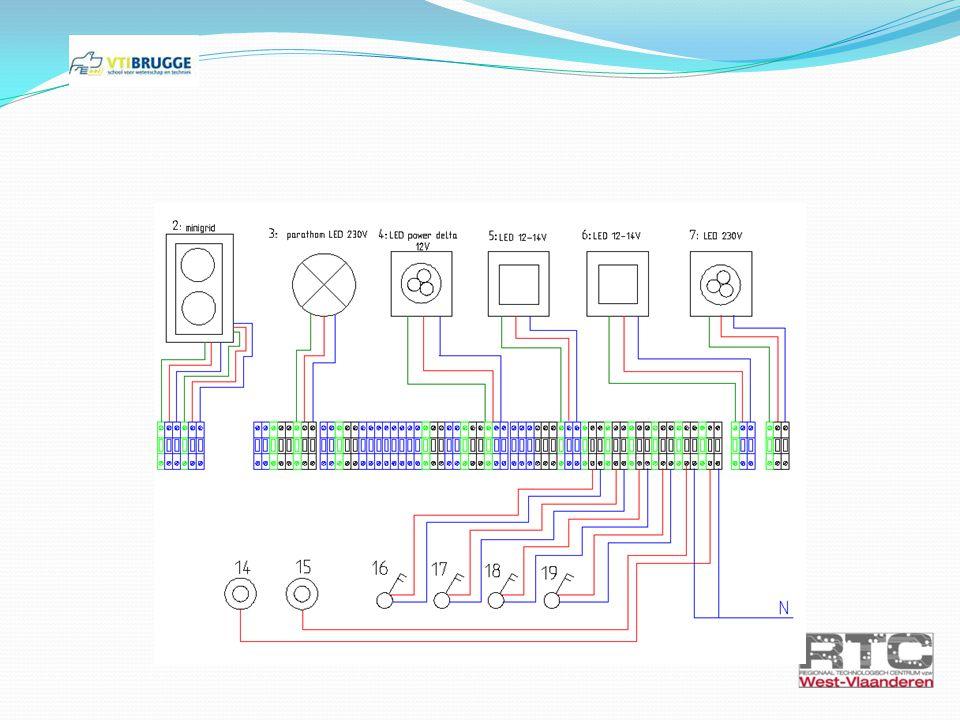 Oefening 4: Parathom LED-schakeling E27 Benodigdheden - LED Parathom (gele lamp E27) - NIKO drukknop - NIKO dimmer (nr 20 in zekeringskast)