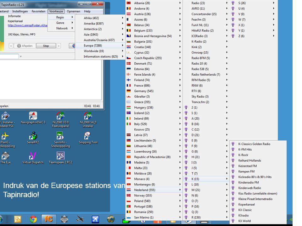 Indruk van de Europese stations van Tapinradio!
