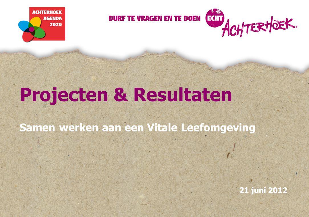 Projecten & Resultaten Samen werken aan een Vitale Leefomgeving 21 juni 2012