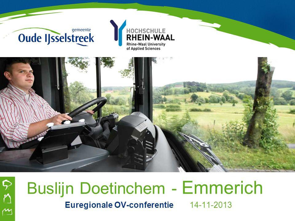Buslijn Doetinchem - Emmerich Euregionale OV-conferentie 14-11-2013