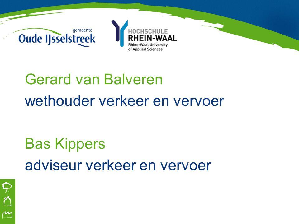Gerard van Balveren wethouder verkeer en vervoer Bas Kippers adviseur verkeer en vervoer