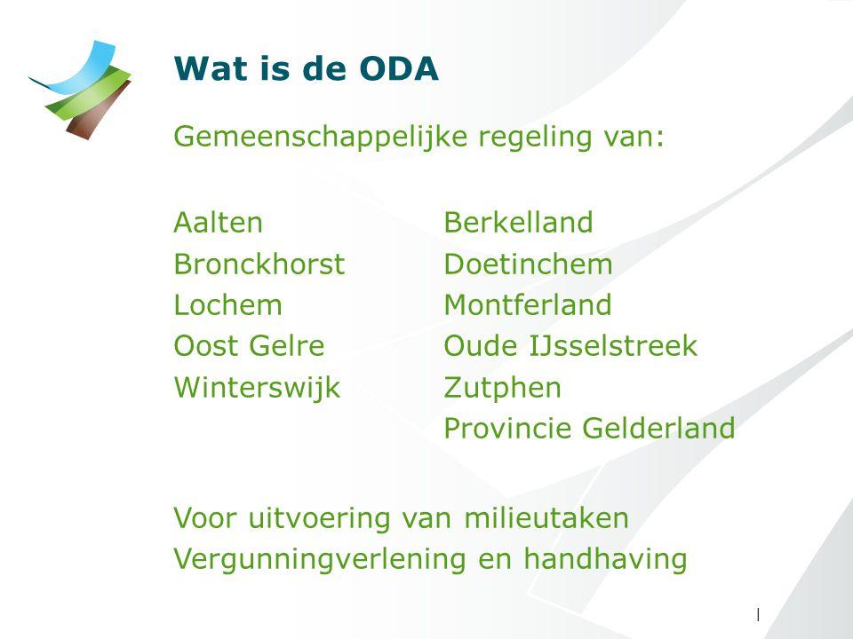 | Wat is de ODA Gemeenschappelijke regeling van: AaltenBerkelland BronckhorstDoetinchem LochemMontferland Oost GelreOude IJsselstreek WinterswijkZutph