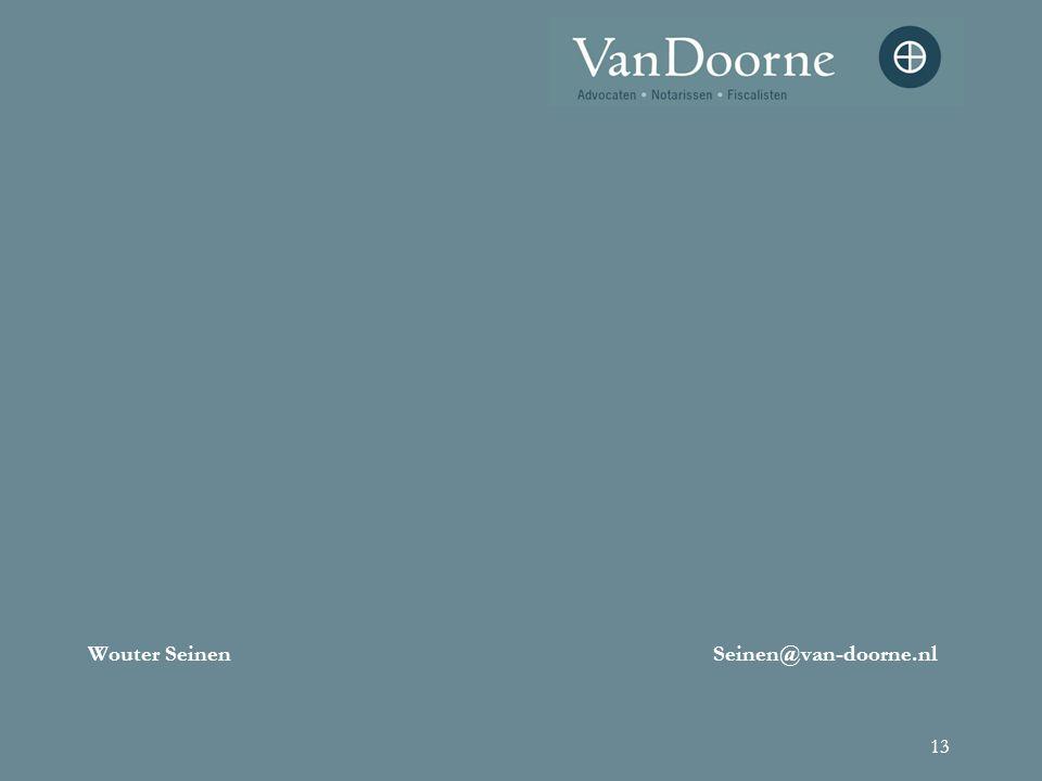 13 Wouter SeinenSeinen@van-doorne.nl