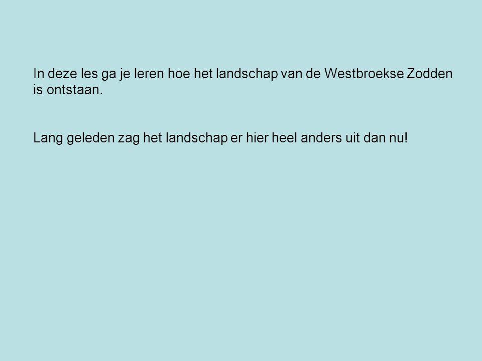 In deze les ga je leren hoe het landschap van de Westbroekse Zodden is ontstaan. Lang geleden zag het landschap er hier heel anders uit dan nu!
