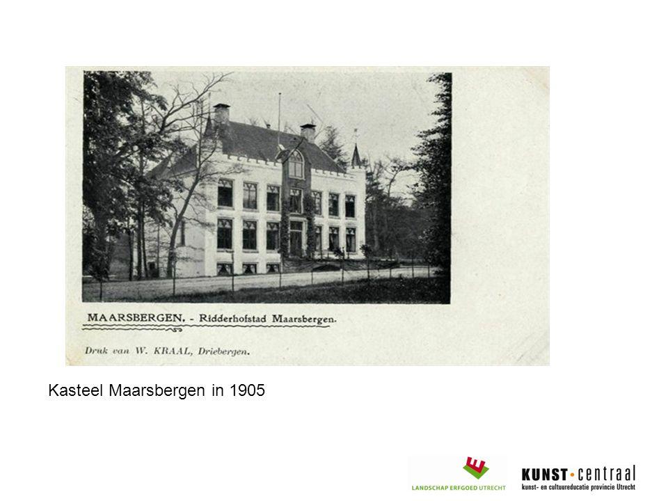 Kasteel Maarsbergen in 1905