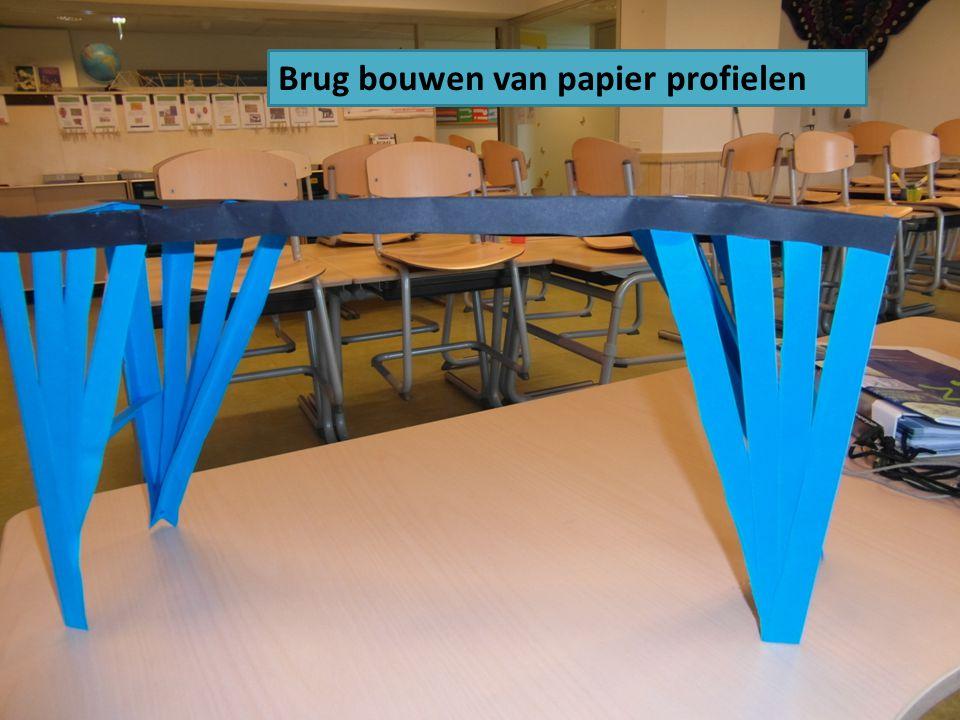 Brug bouwen van papier profielen