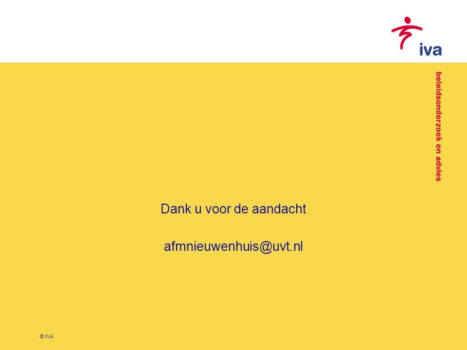 © IVA Dank u voor de aandacht afmnieuwenhuis@uvt.nl