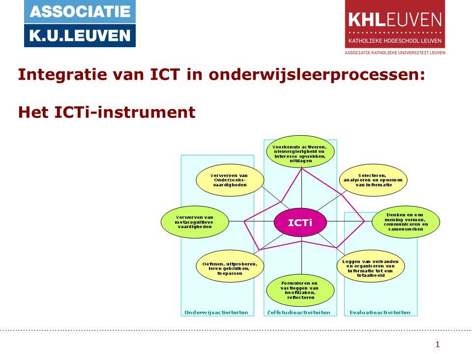 1 Integratie van ICT in onderwijsleerprocessen: Het ICTi-instrument 1