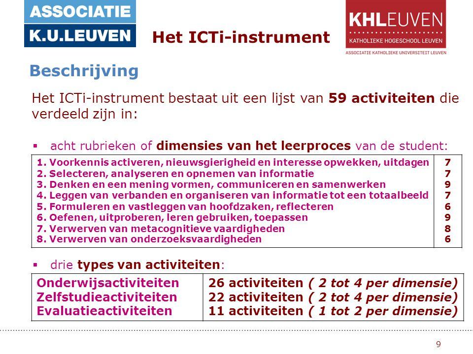 9 Het ICTi-instrument Beschrijving 1.