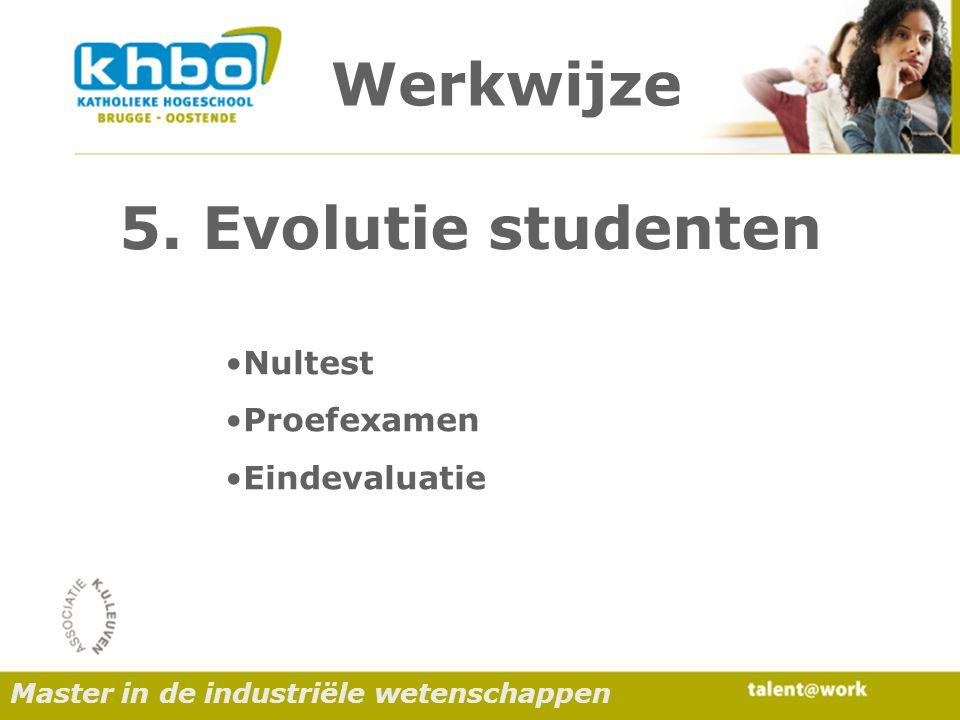 Werkwijze Nultest Proefexamen Eindevaluatie 5.