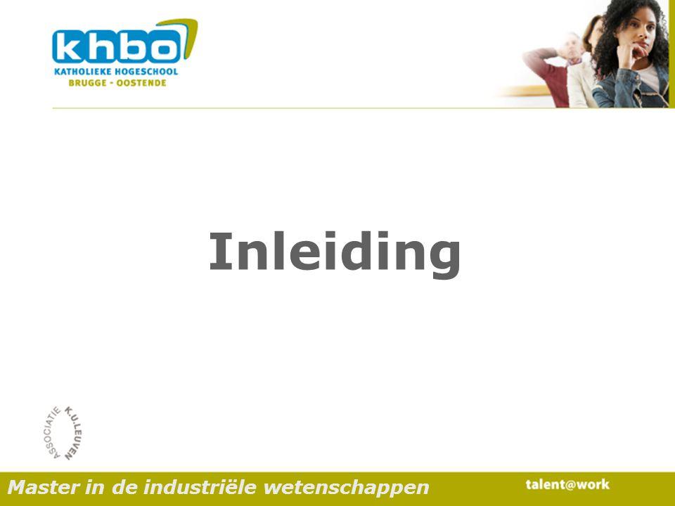 Resultaten Master in de industriële wetenschappen