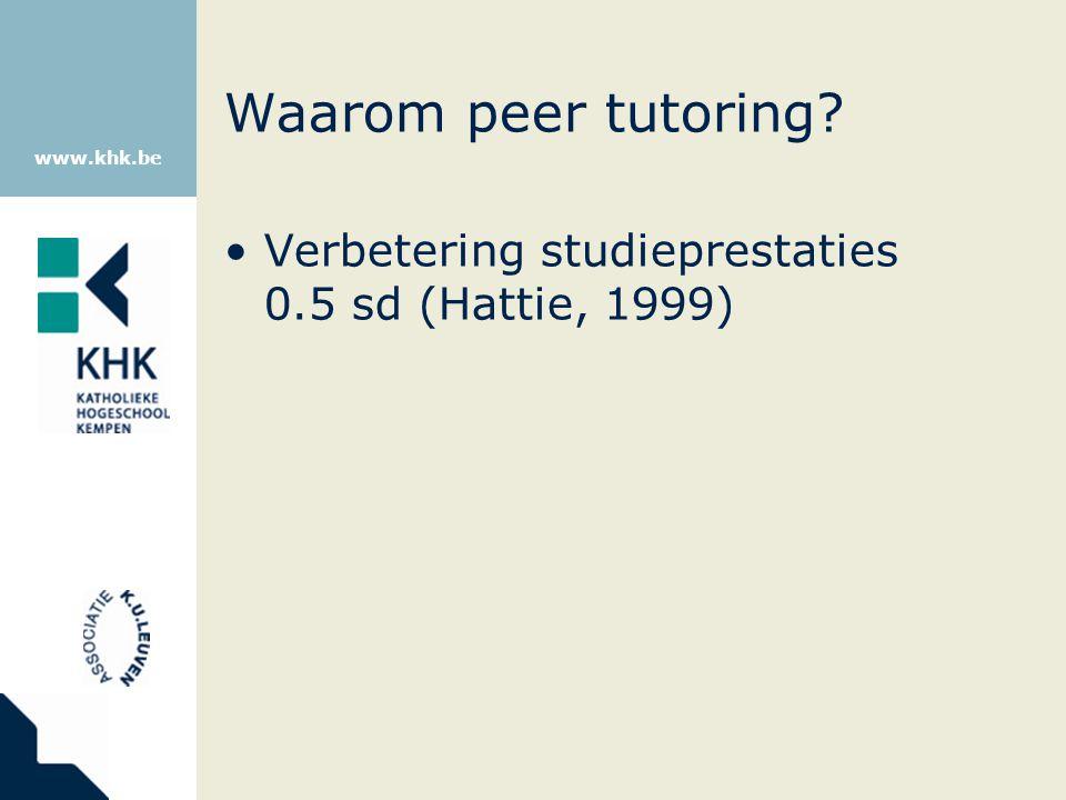www.khk.be Wat helpt om studieprestaties te verbeteren?